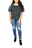 Loose Fit T-Shirt - Washed Black
