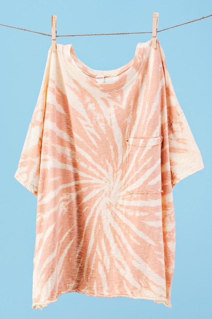 Vintage Tie Dye Short Sleeve Top