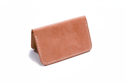 Cardholder - Two Pocket Natural Italian Shell Cordovan