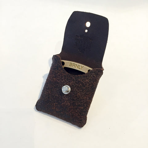 Cypop Pouch - Brown Horween Waxed Flesh HF