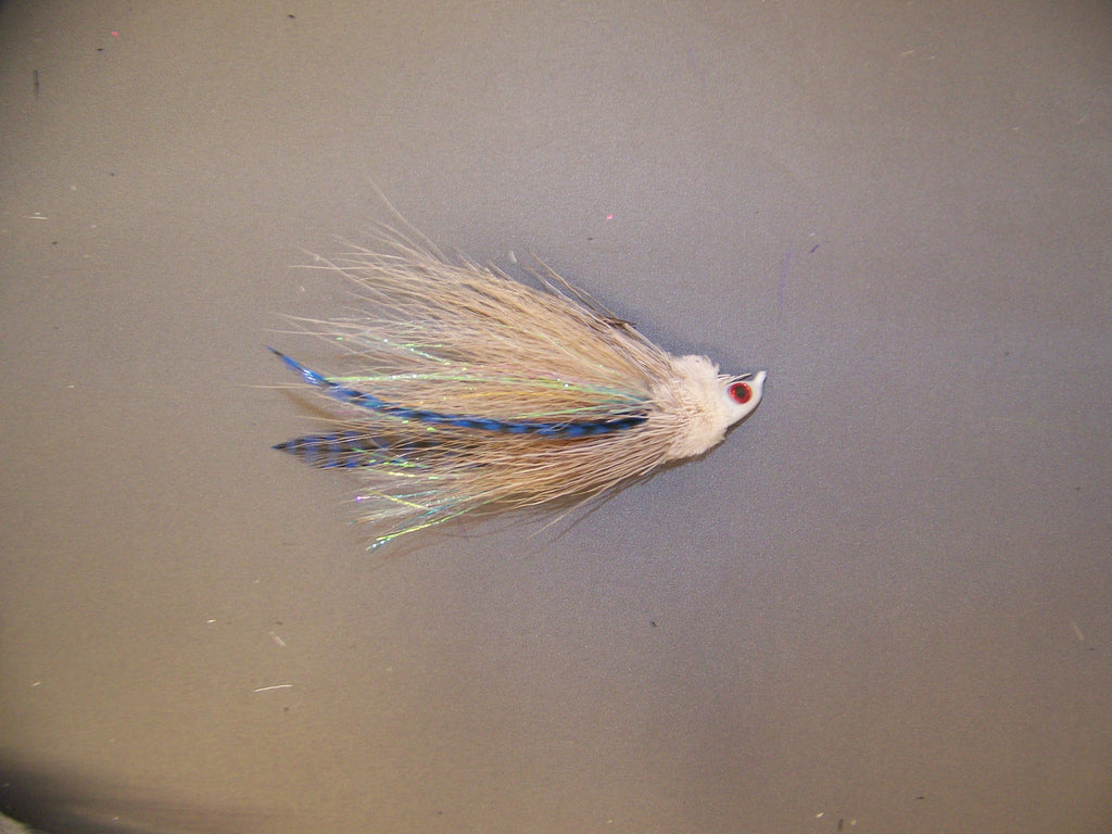 Naples Best Custom Jig The 1/4 oz. Deer Hair Flats Jig White, Tan, Black, Purple, Rust, Wht/Chat