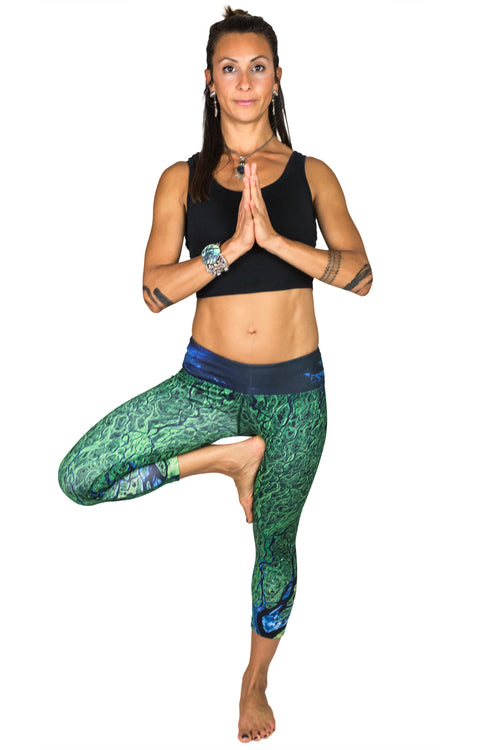 Capri Leggings - Printed Yoga Leggings - Lena Delta