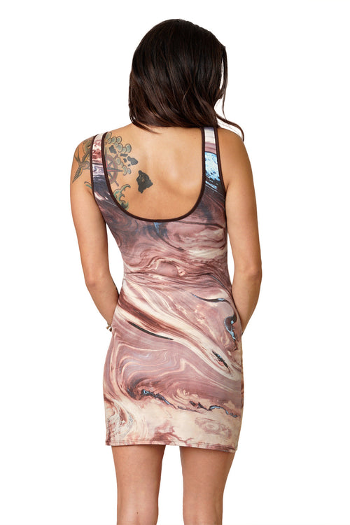 Cocktail Dress-Travel Dress-Earth Clothing-NASA Satellite Clothing-Dasht-e Kavir