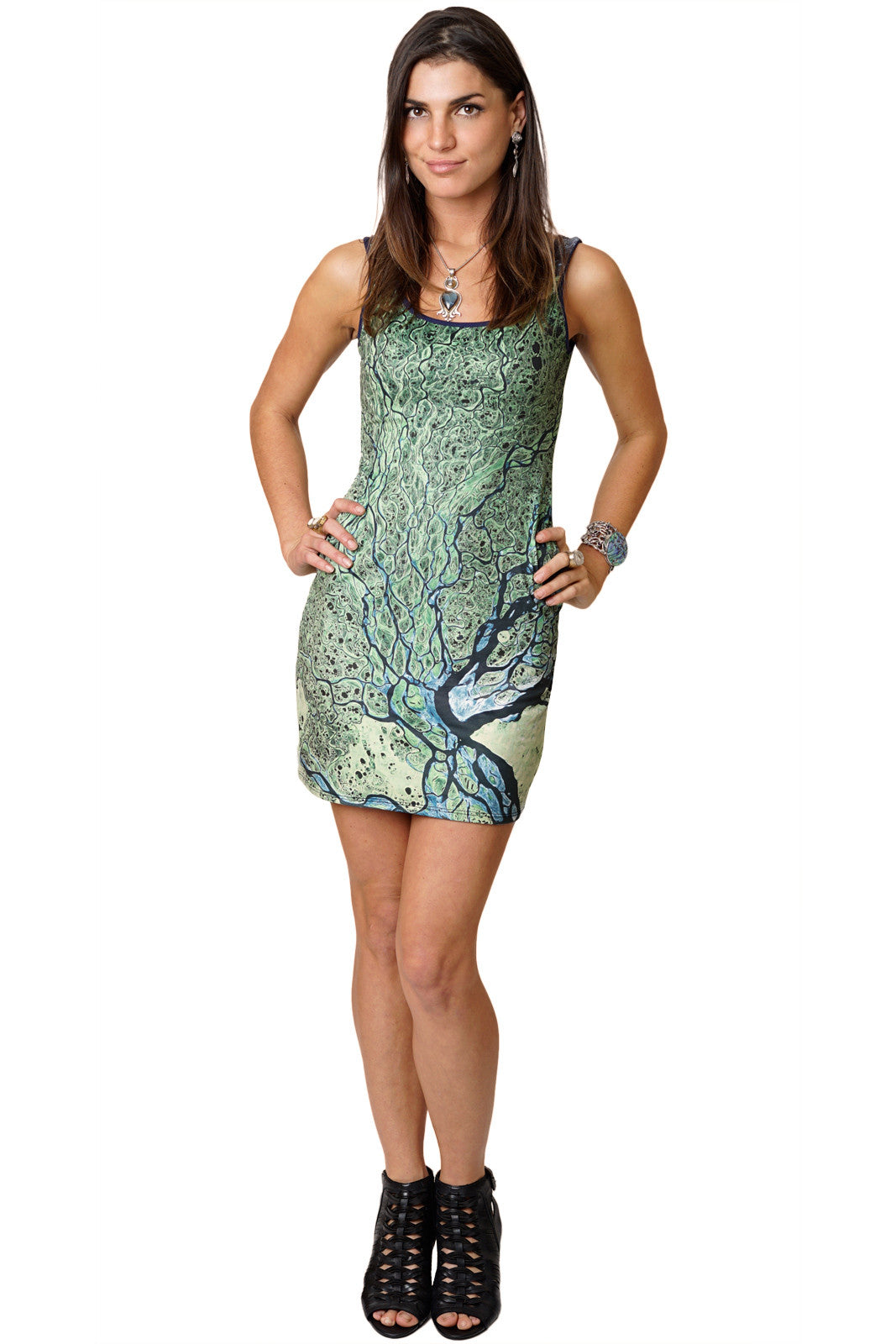 InVisions Clothing-Cocktail Dress-Nature Lover Dress-Lena Delta
