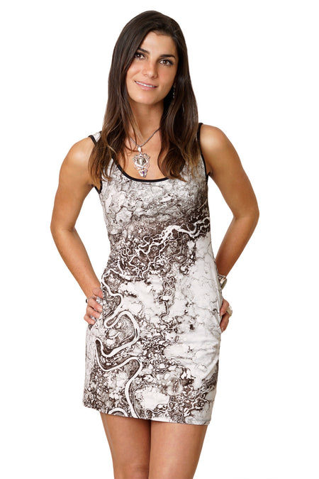Sleeveless Cowl Neck Dress-Fashion & Nature Clothing-Lena Delta