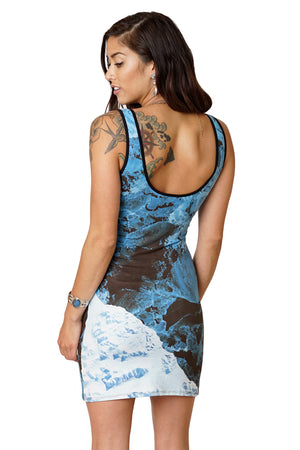 Cocktail Dress - Ocean Lovers Dress - Kamchatka - Our Earth from Space