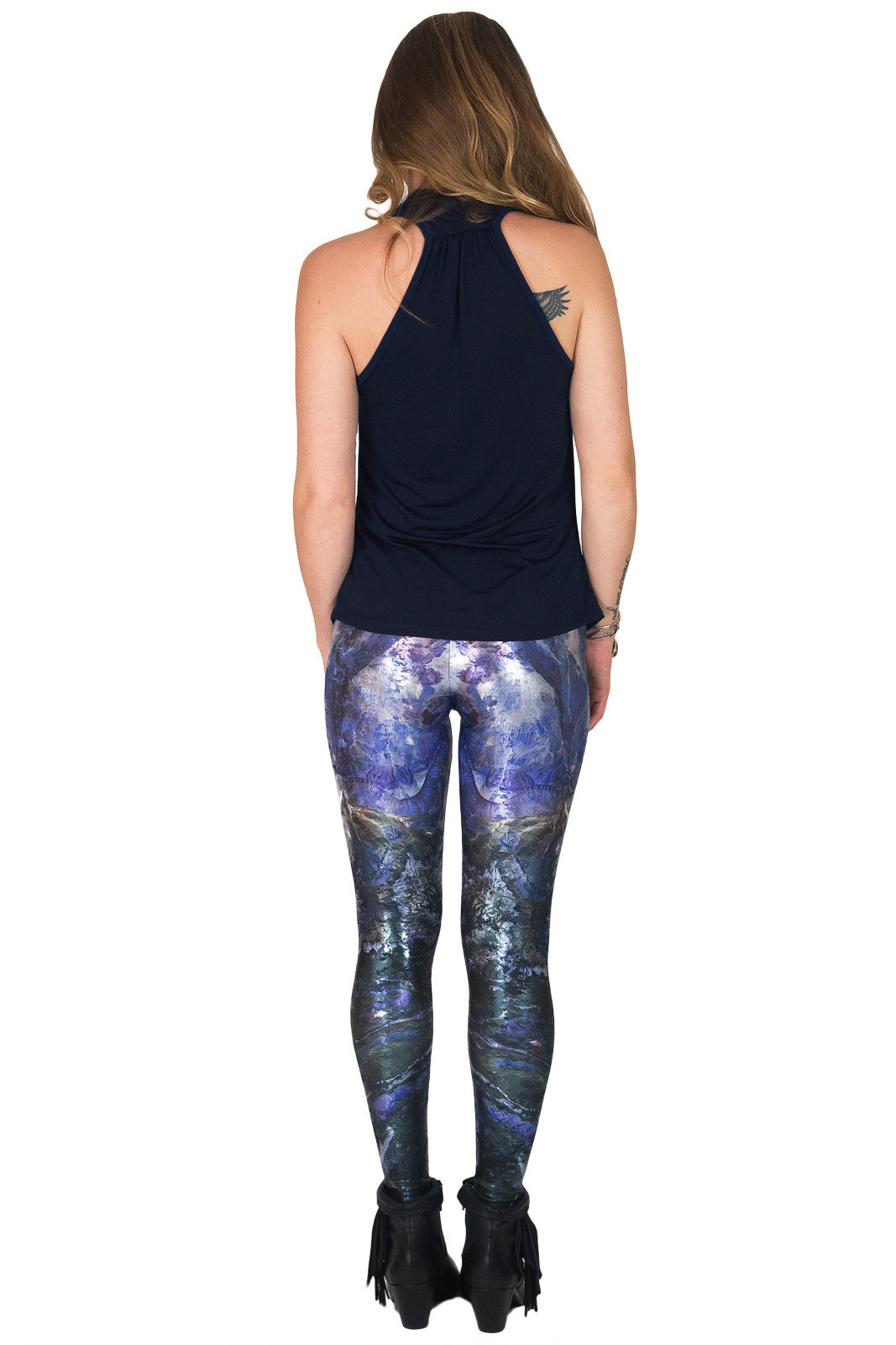 Leggings Foil -Colorful Printed Leggings-NASA Satellite Image of Earth