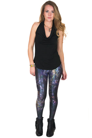 Leggings Foil - Colorful Printed Leggings-Hi Resolution NASA Satellite Image- Ghadamis
