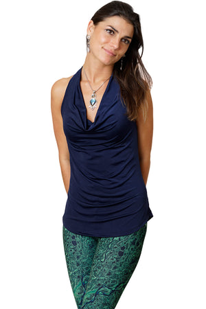 Sleeveless Cowl Neck Top-Earth Clothing-Nature Clothing-Sapphire