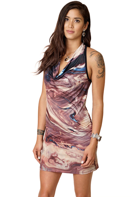 Cocktail Dress-Nature Lover Dress-Earth Dress-Lena Delta