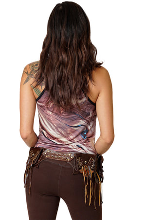 Leather Money Belt - Butterfly - Festival Styles