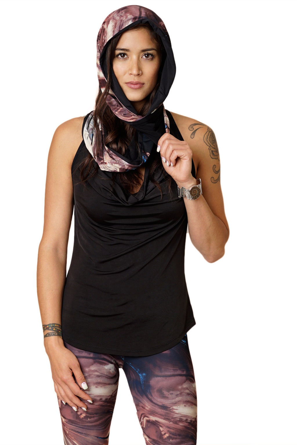 Infinity Scarf-Printed Earth Scarves-Earth Clothing-Dasht-e Kavir