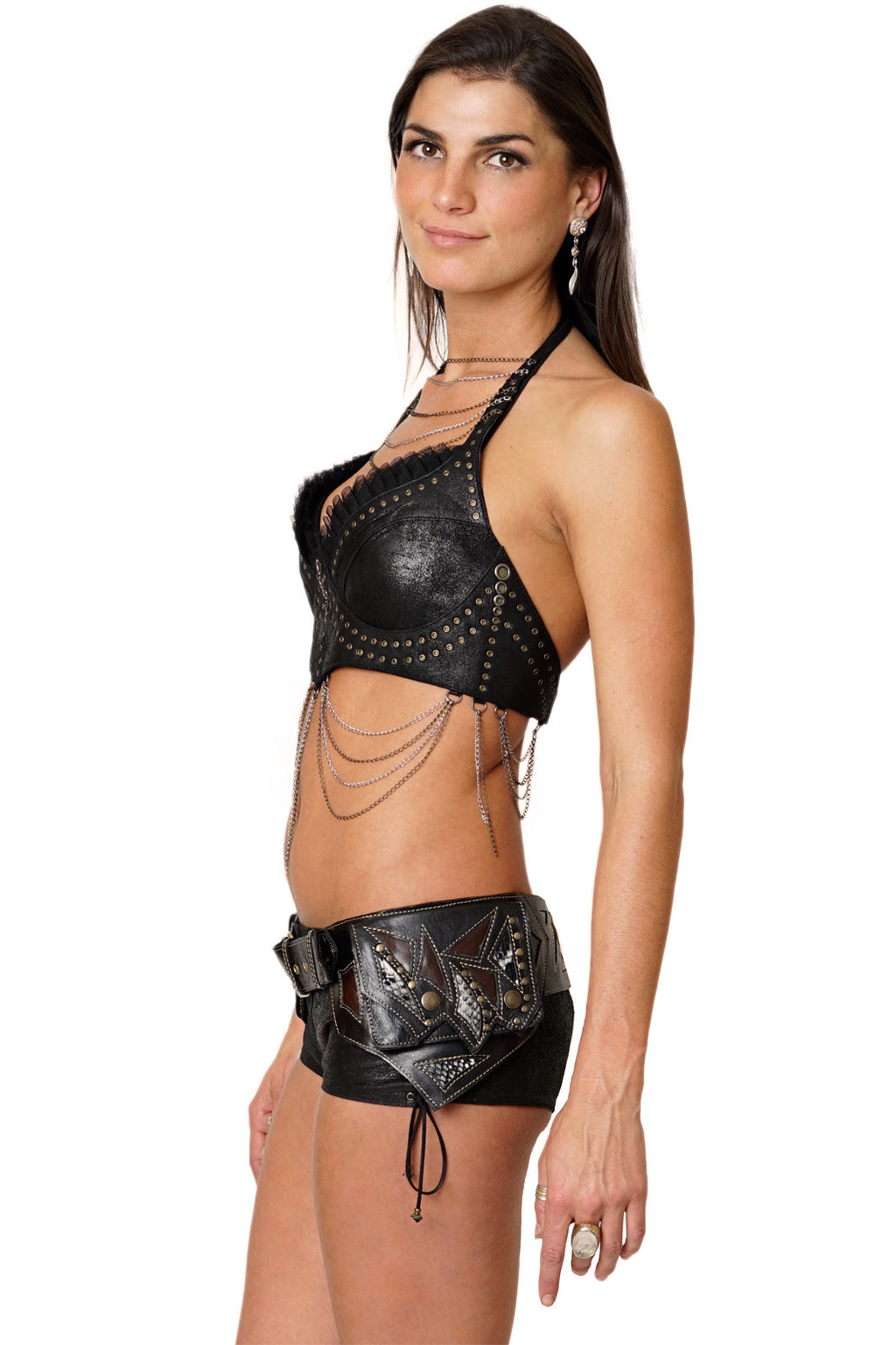 Leather Snake Hip Belt - Festival Fashion
