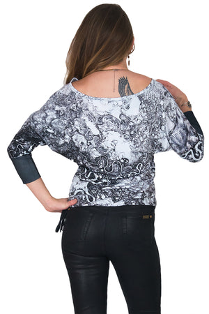 Dolman Top-Printed Travel Clothes-Map Clothing-Mayn River