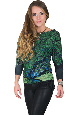 Dolman Top-Earth Clothing-Satellite Image Lena Delta
