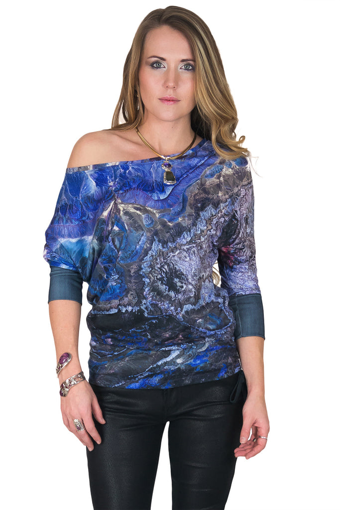 Dolman Top - Organic Printed Pattern - Atlas Mountains
