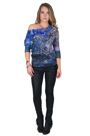Dolman Top-Visionary Art Clothing-Earth Image-Atlas Mountains
