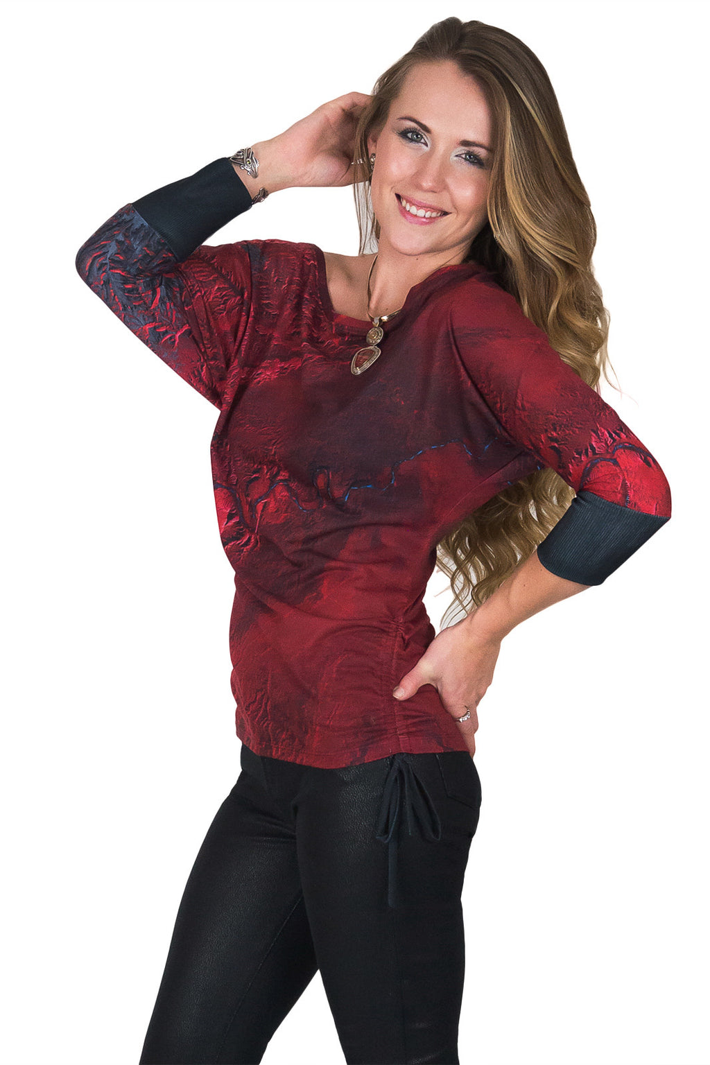 Dolman Top-Travel our World Top-Printed Nature Clothing-Desolation Canyon
