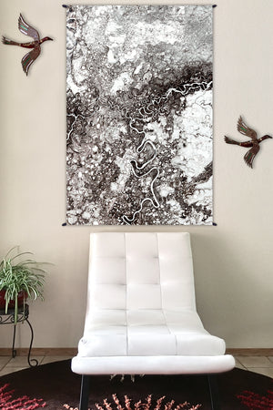 Fabric Tapestry - Nature Wall Hangings - Wall Art - Yoga Gift - Mayn River
