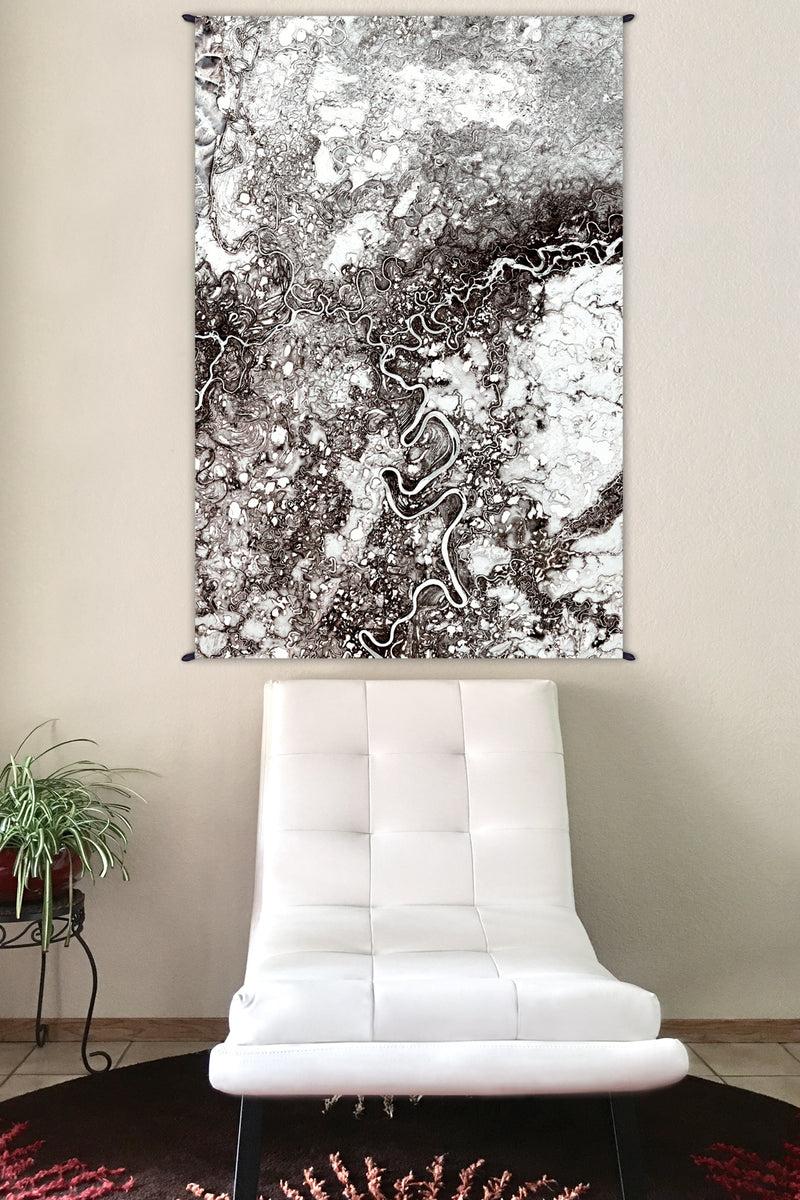 Fabric Tapestry - Wall Art - Nature Wall Hanging - Mayn River