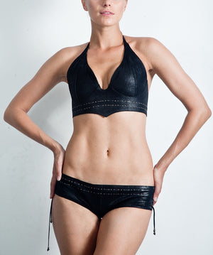 Short Bikini Hot Pants - Black