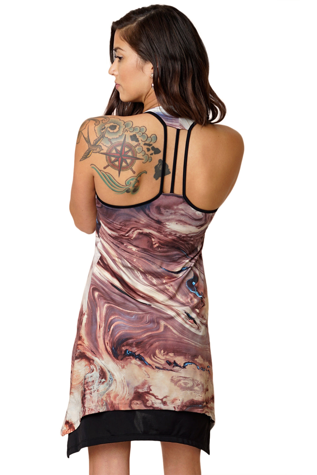 Gypsy Dress-Earth Image Clothing-Nature Clothing-Dasht-e Kavir-Deserts-Back View