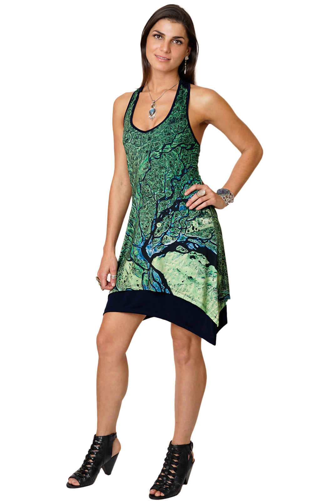 Gypsy Dress-Map Dress-Nature Clothing-National Geographic Clothing