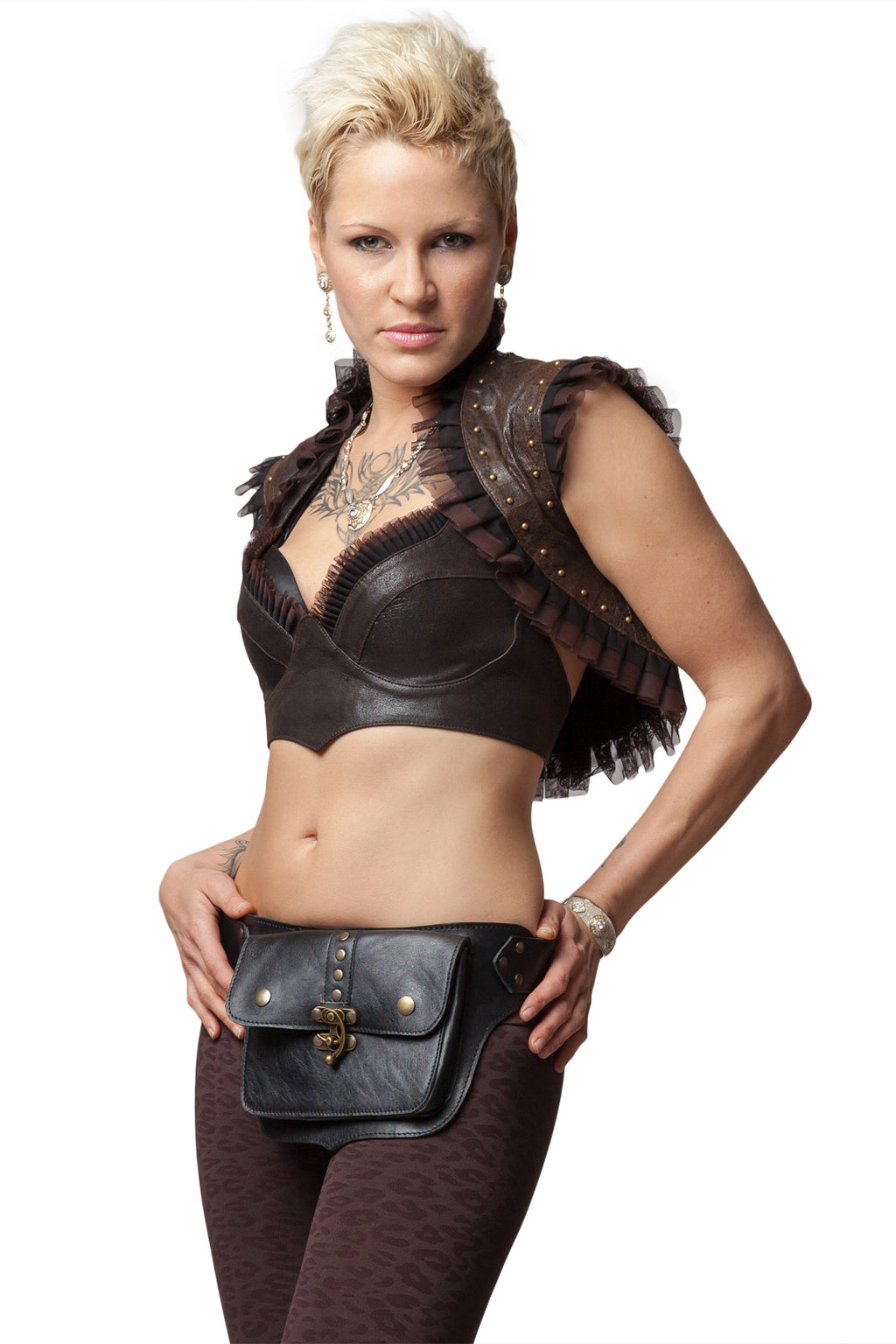 Hip Belt - Leather One Pocket- Festival Lifestyle
