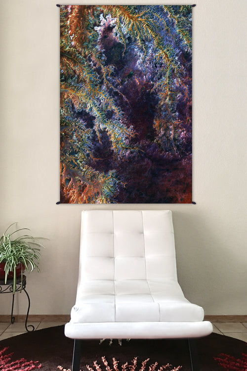 Hippie Tapestry - Nature Wall Tapestry - Psychedelic Tapestry - Ghadamis