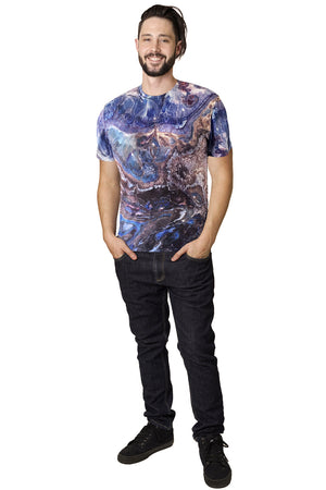 Mens Short Sleeve T-shirt-Nature Inspired Performance Clothing-Atlas Mtns-Full View