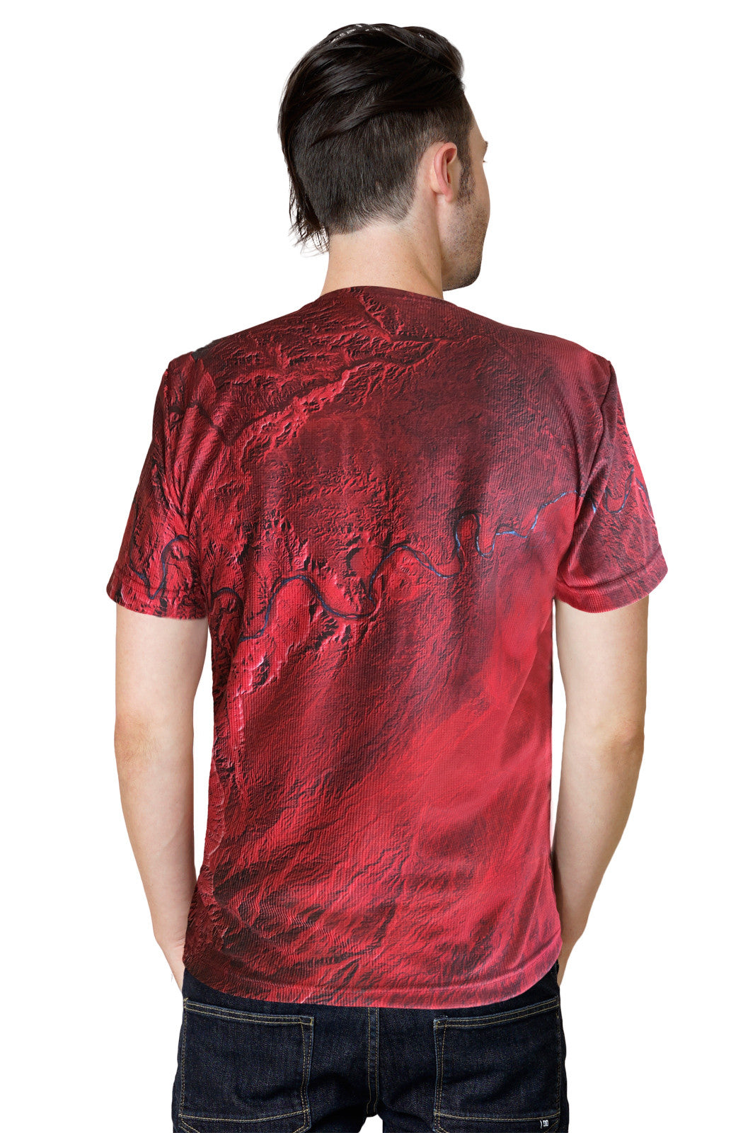 ns Short Sleeve T-shirt-Earthscapes Activewear Clothing-Desolation Canyon Utah-Back View