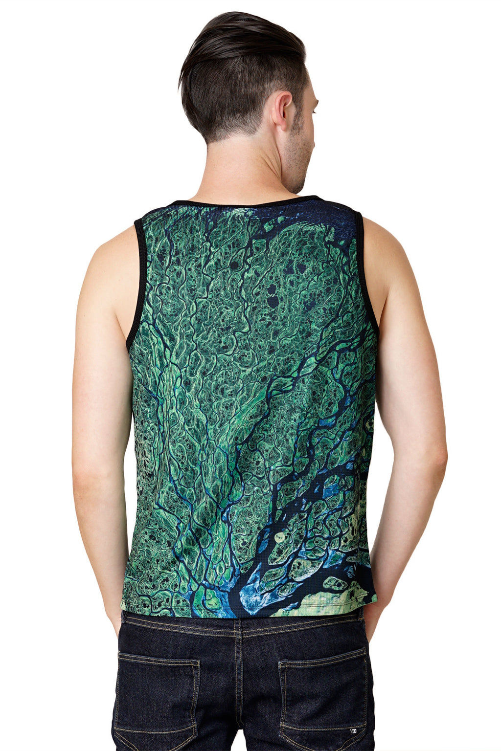 All Over Printed Mens Graphic Tank Top-Performance Clothing-Nature Print Clothing