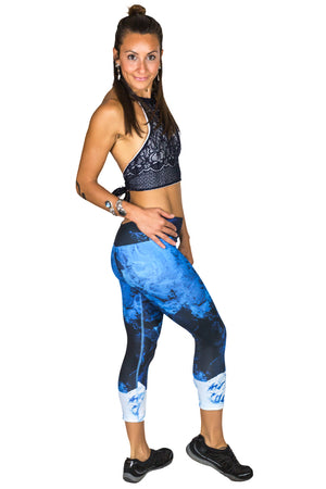 Earthscapes Clothing-Colorful Printed Yoga Leggings-Kamchatka Peninsula