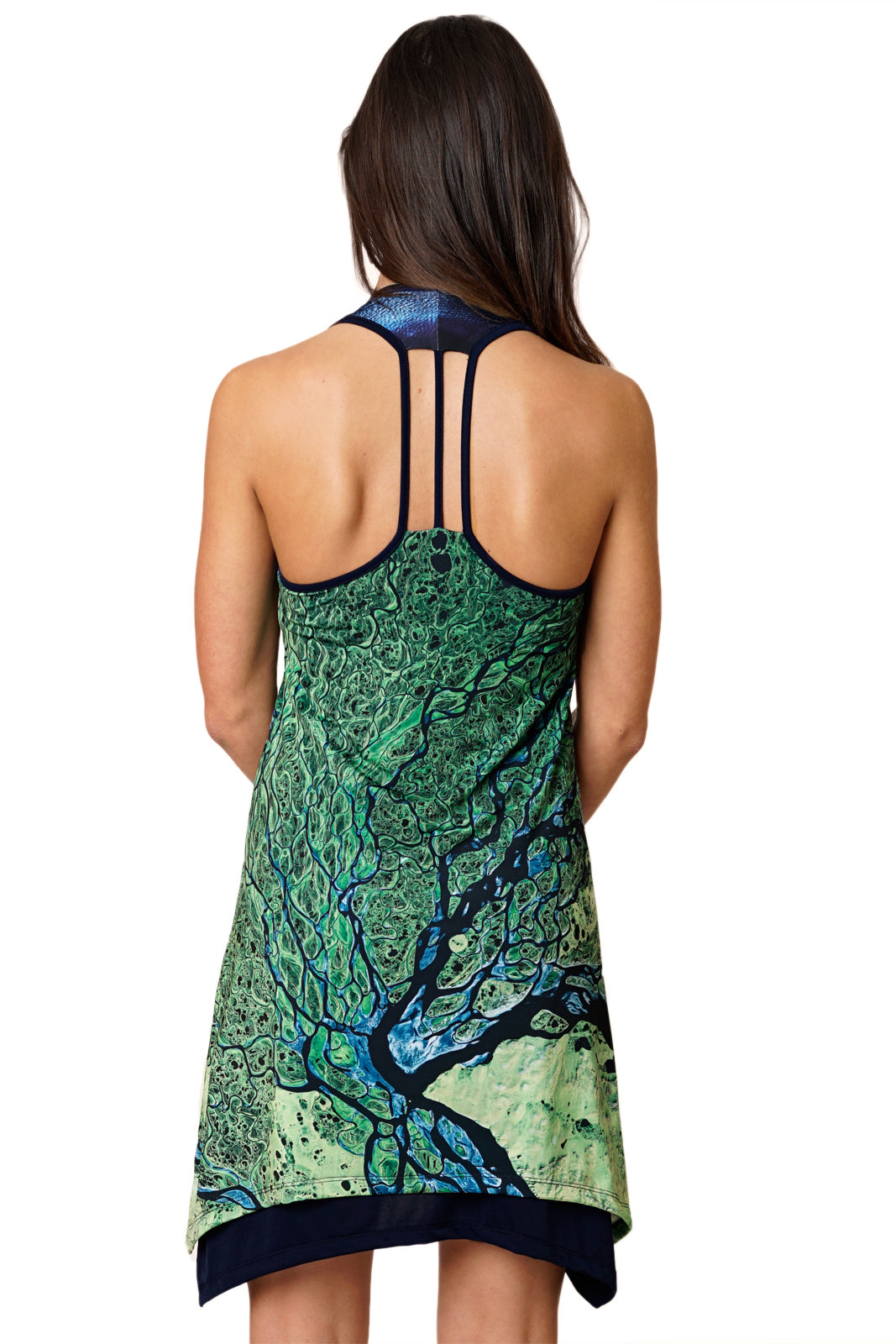 Gypsy Dress-National Geographic Clothing-Map Dress-Lena Delta-Back view