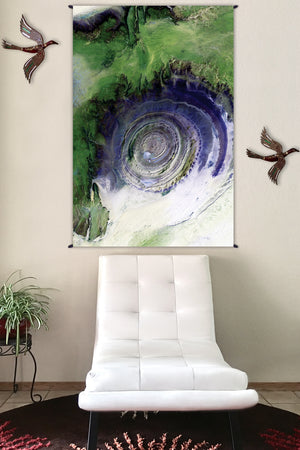 Landscape Tapestry - Nature Tapestry - Fabric Tapestry - Richat Structure