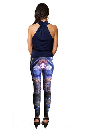 Colorful Printed Yoga Leggings, Colorful Leggings, Map Leggings, Atlas Mountainsns