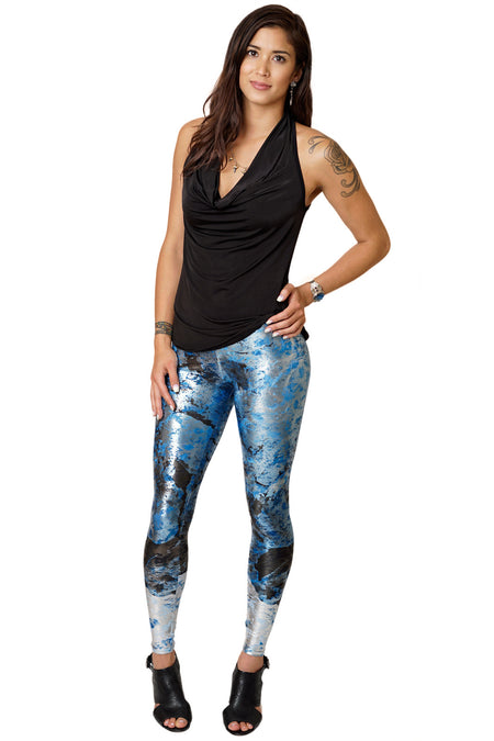 Leggings Foil - Colorful Printed Leggings- NASA Satellite Image - Desolation Canyon