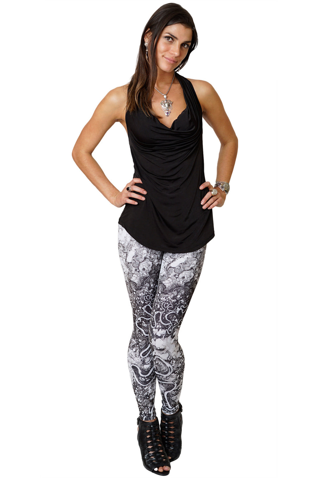 Leggings Earth Art-Festival Clothing-Mayn River