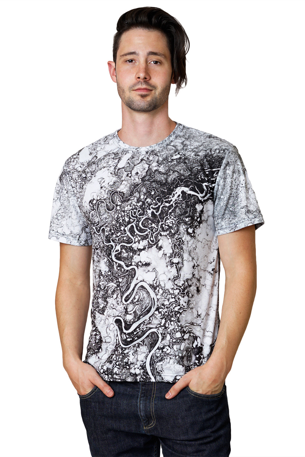 Mens Shortsleeve T-shirt-Nature Inspired Clothing-Earth Image Apparel-Mayn River
