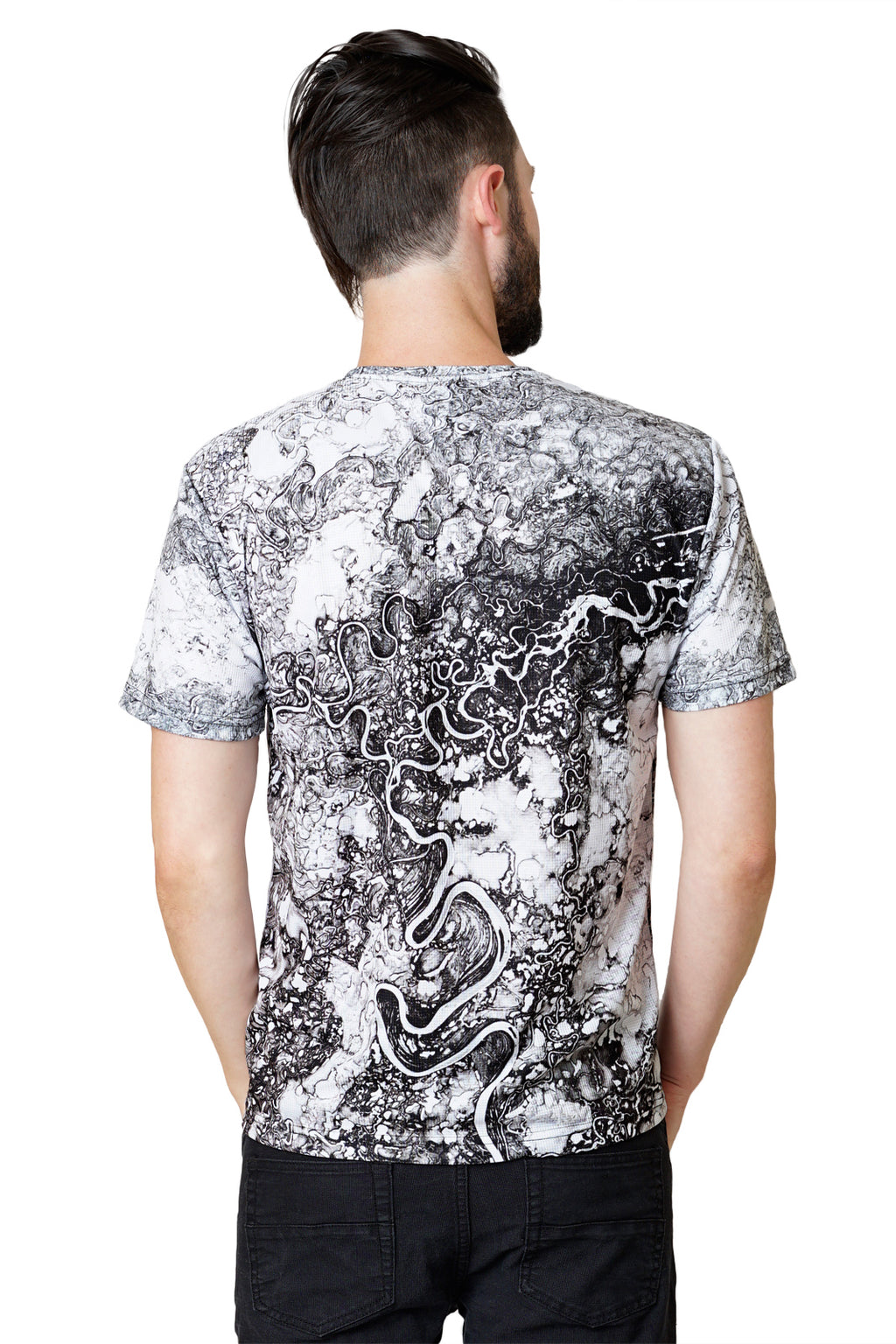 Mens Shortsleeve T-shirt-Nature Inspired Clothing-Earth Images Clothing-Mayn River-Back View
