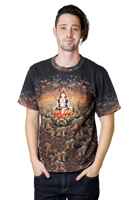 Mens Short Sleeve -  Colorful Exercise wear - Satellite Image Desert of Dasht-e Kavir