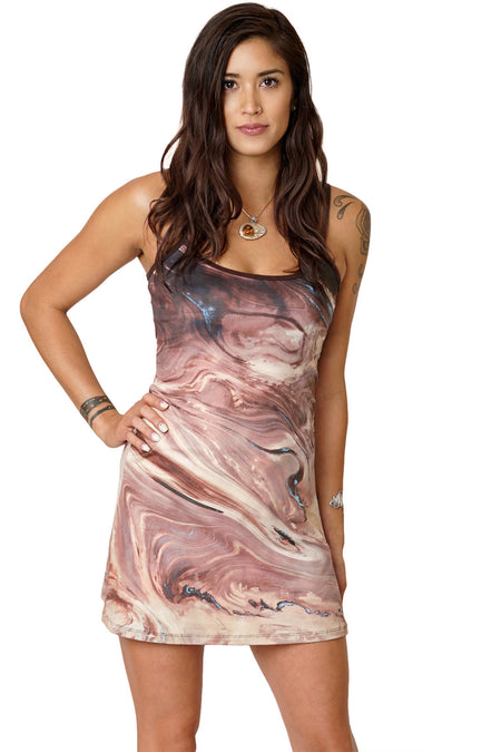Sleeveless Cowl Neck Dress-Google Earth Clothing-Atlas Mountains