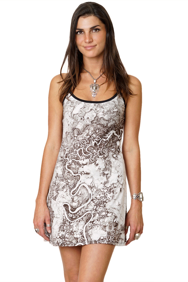 Mini Dress-Earthscapes Earth as Art-Earth Clothing- Mayn River