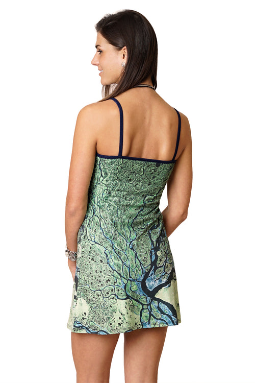 Mini Dress-Earthscapes Organic Pattern Clothing-Lena Delta