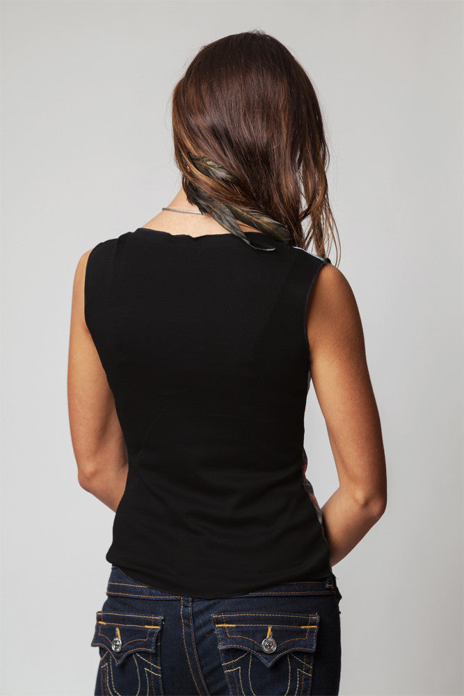 Sleeveless Black Orchid