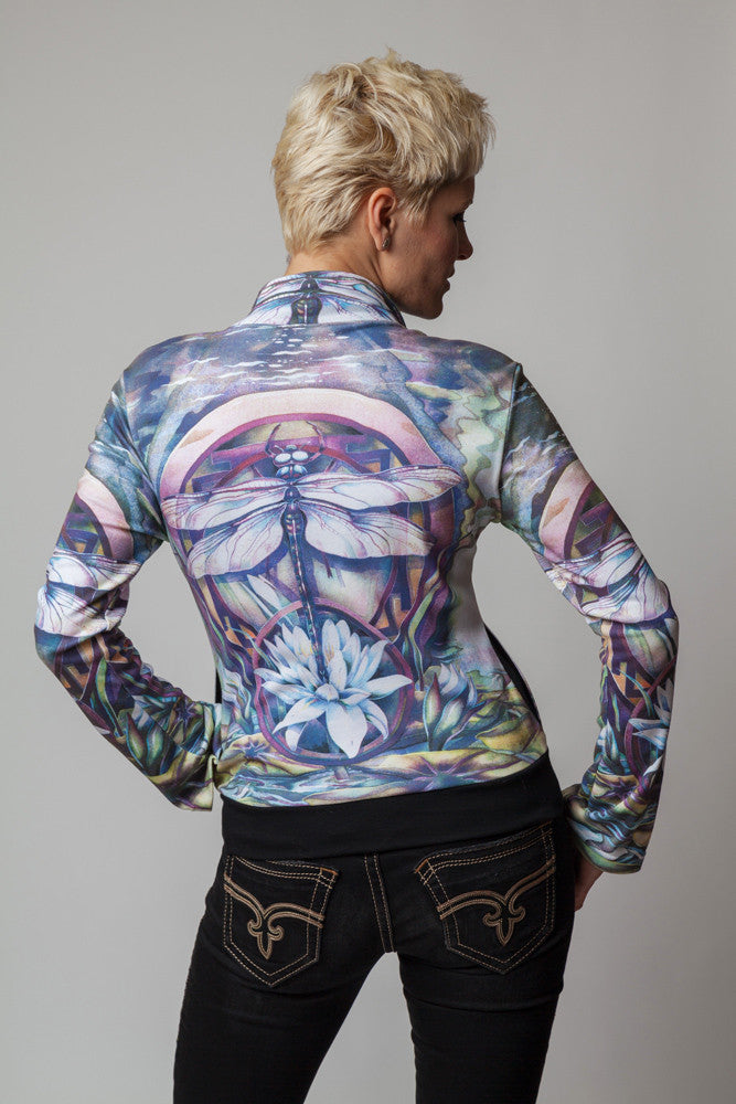 Dragonfly Jacket-Visionary Art Clothing-Nature Clothing-Fairy Clothin