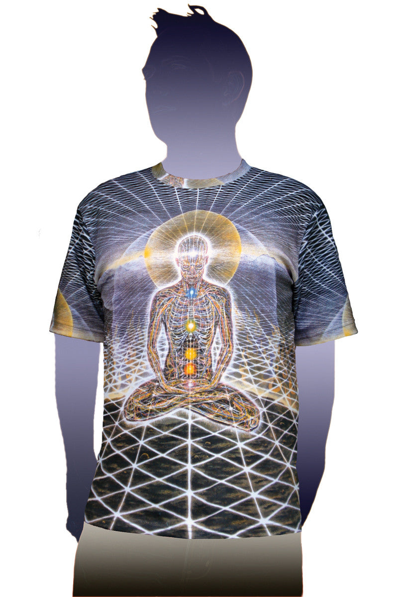 Alex Grey Theologue Mens Tshirt-Sacred Mirrors