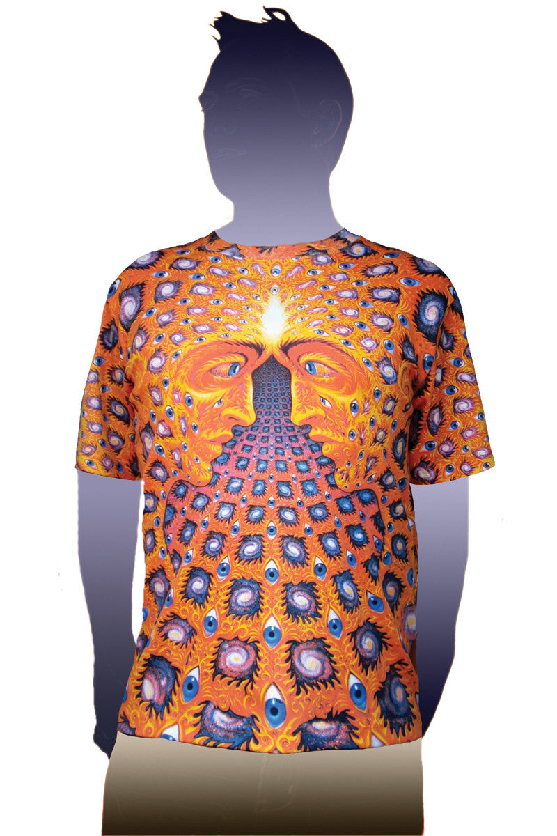 Alex Grey One Mens T-shirt-Sacred Mirrors