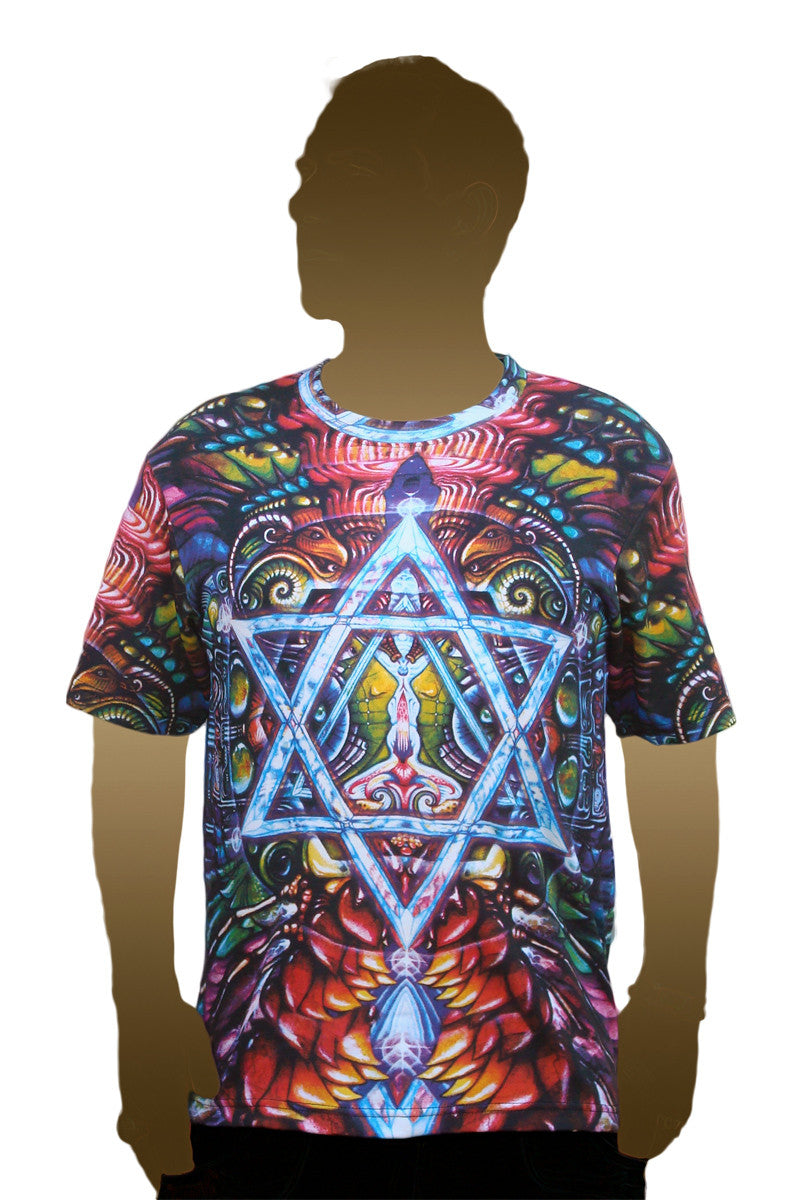 Shortsleeve Printed T-shirt- Visionary Art - Concordance