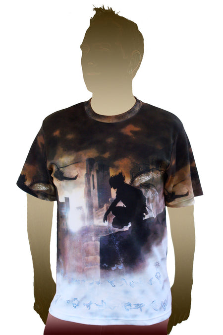 Shortsleeve Printed T-shirt- Psychedelic Art - Enlightenment